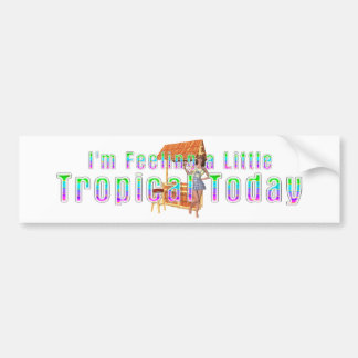 TEE Tropical Tiki Bumper Sticker