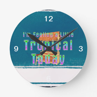 TEE Tropical Tiki Round Clock