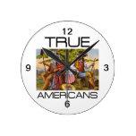 TEE True Americans Round Wall Clocks