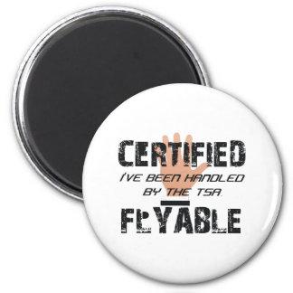 TEE TSA Slogan 2 Inch Round Magnet