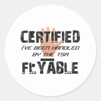 TEE TSA Slogan Round Sticker