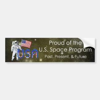 TEE U.S. Space Program Bumper Sticker