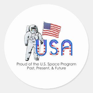 TEE U.S. Space Program Classic Round Sticker