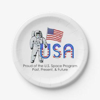 TEE U.S. Space Program Paper Plate
