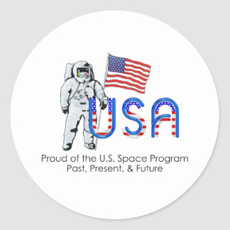 TEE U.S. Space Program Round Stickers