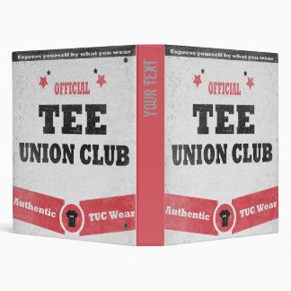 Tee Union Club (TUC) Binder