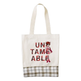 TEE Untameable Zazzle HEART Tote Bag