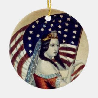TEE Value Liberty Ceramic Ornament