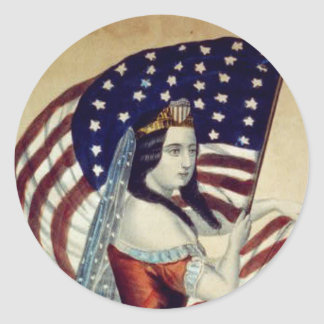 TEE Value Liberty Classic Round Sticker