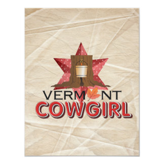 TEE Vermont Cowgirl Card