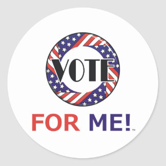 TEE Vote For Me Classic Round Sticker