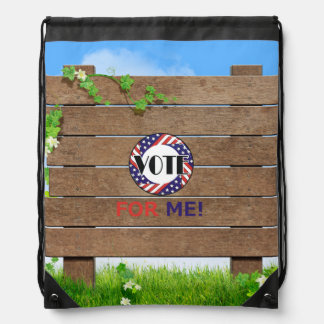 TEE Vote for Me Drawstring Backpack
