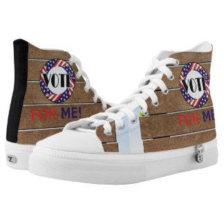TEE Vote for Me High-Top Sneakers