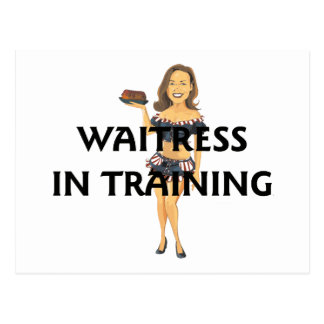 TEE Waitress In Training Postcard