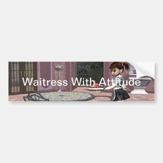 TEE Waitress With Attitude Bumper Sticker