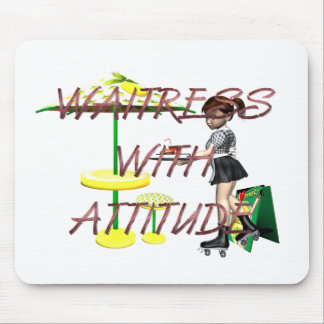 TEE Waitress with Attitude Mouse Pad