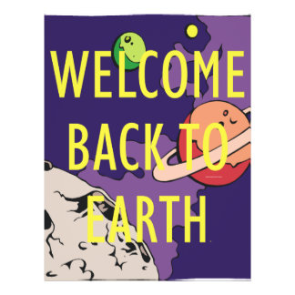 TEE Welcome Back to Earth Flyer Design