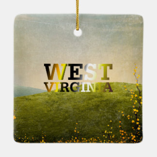 TEE West Virginia Ceramic Ornament