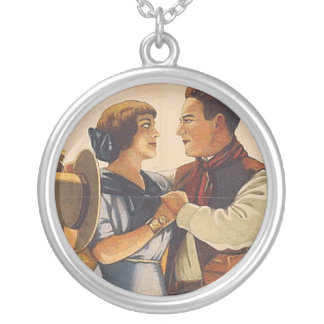 TEE Western Love Round Pendant Necklace