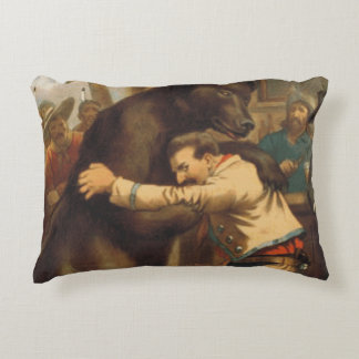 TEE Wild West Wrestling Accent Pillow