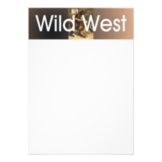TEE Wild West Wrestling Personalized Invitation