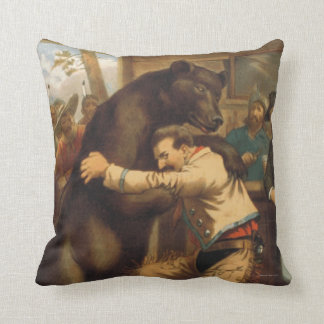 TEE Wild West Wrestling Throw Pillow