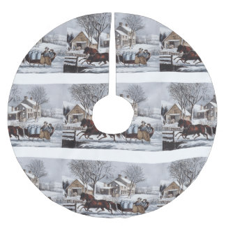 TEE Winter Ride Brushed Polyester Tree Skirt