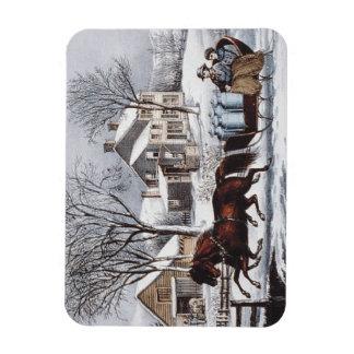 TEE Winter Ride Flexible Magnet