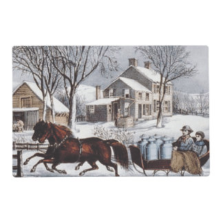 TEE Winter Ride Laminated Place Mat