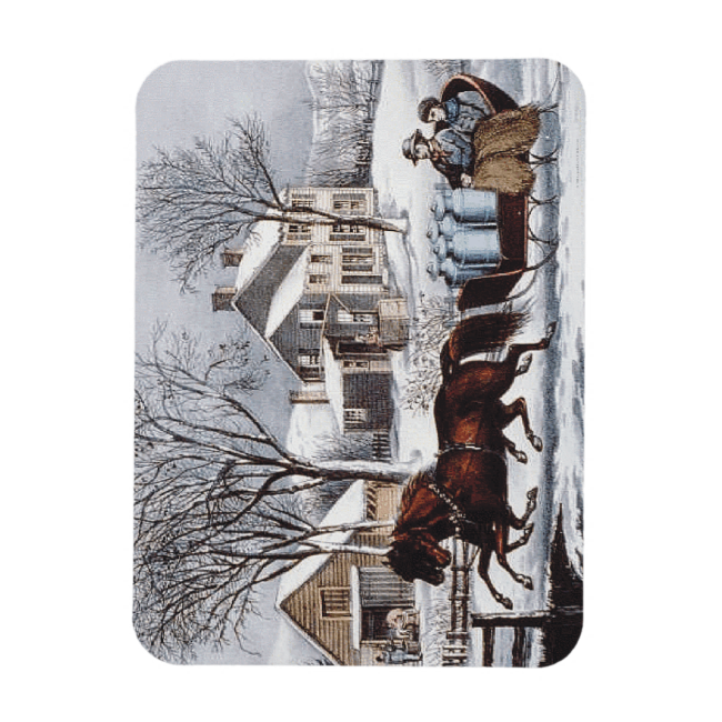 TEE Winter Ride Rectangular Photo Magnet