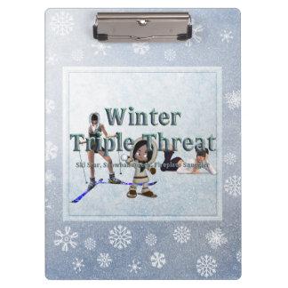 TEE Winter Triple Threat Clipboard