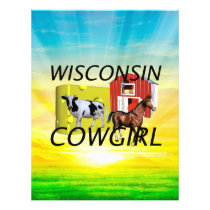 TEE Wisconsin Cowgirl Flyer
