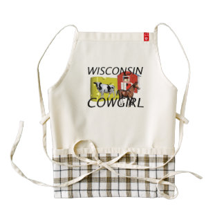 TEE Wisconsin Cowgirl Zazzle HEART Apron