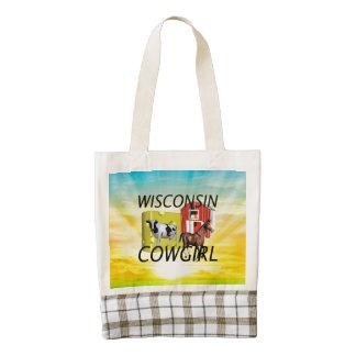 TEE Wisconsin Cowgirl Zazzle HEART Tote Bag