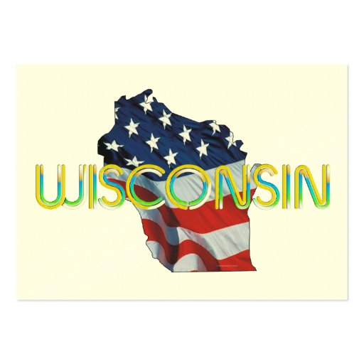 TEE Wisconsin Patriot Large Business Cards (Pack Of 100)