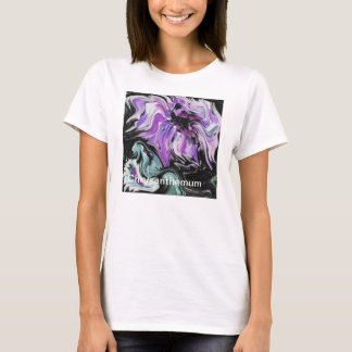 Tee with an original impressionistic painting