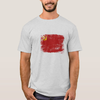 Tee with Dirty Old Soviet Union Flag form the Past
