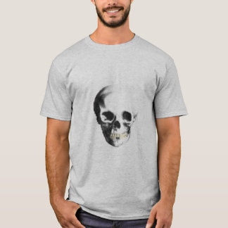 Tee with Old Skull Print