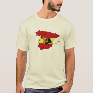Tee with Spanish Matador on Spain Map