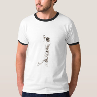Tee with Vintage Golf Player In Black and White