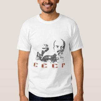 Tee with Vintage Soviet Union Print of Lenin