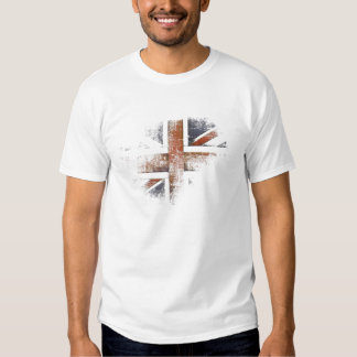 Tee with Worn Out Great Britain Flag