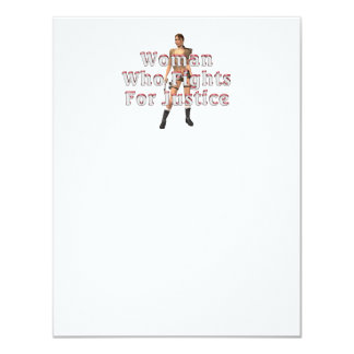 TEE Woman Justice 4.25x5.5 Paper Invitation Card