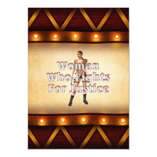 TEE Woman Justice 5x7 Paper Invitation Card