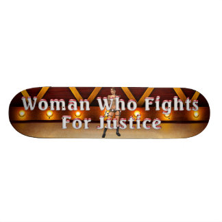 TEE Woman Justice Skateboard Deck
