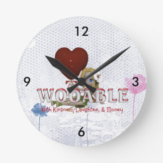 TEE Wooable Love Round Clock