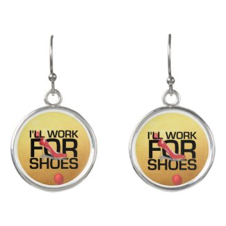 TEE Work for Shoes Earrings