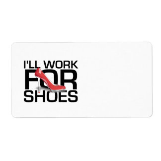 TEE Work for Shoes Custom Shipping Label