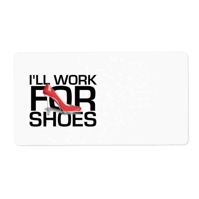 TEE Work for Shoes Shipping Label