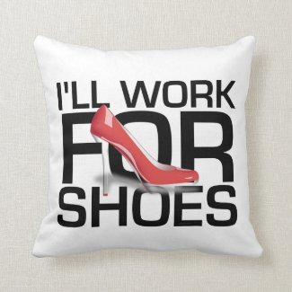 TEE Work for Shoes Throw Pillow